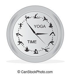 time for yoga concept, vector illustration