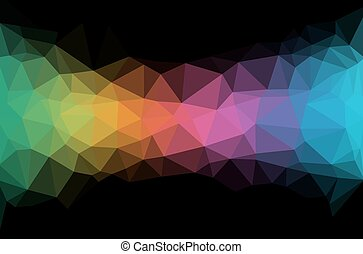 Abstract polygon geometric background Vector and...