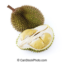Durian - King of fruits durian on white background