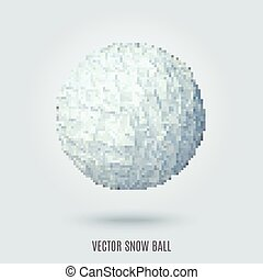 white bumpy sphere - abstract vector white sphere made of...