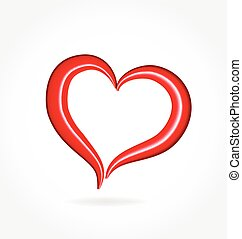 Valentines love heart logo