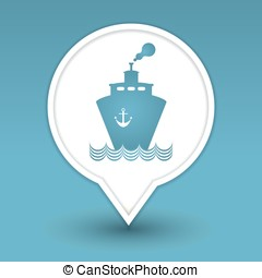 transportation boat web icon design