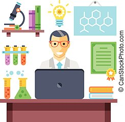 Scientist in chemistry laboratory