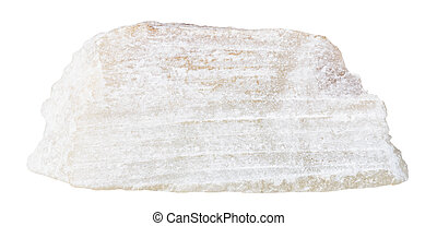 talc mineral stone isolated on white - macro shooting of...