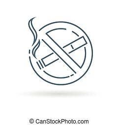 No smoking icon on white background - No smoking zone icon...
