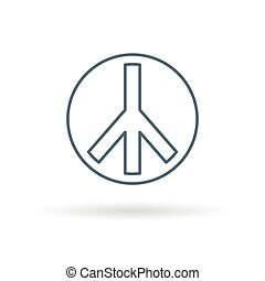 Peace icon on white background - Peace icon Peace sign Peace...