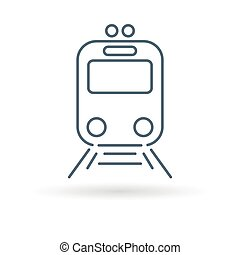 Tram icon on white background - Tram icon Tramway station...