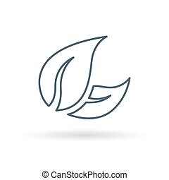 Leaves icon on white background