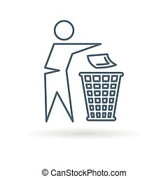 Trash can icon on white background