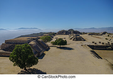 Monte Alban - the ruins of the Zapotec civilization in...