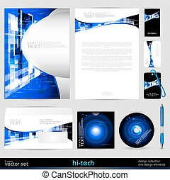 Vector template business set.