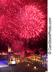Fireworks in Novi Sad, Serbia - Fireworks on new year 2008...