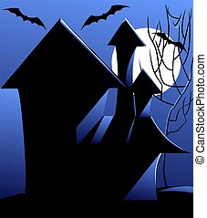 halloween haunted house - Illustration of halloween haunted...