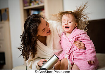 Having fun together - mother and child - Mother and her...