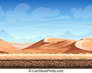 Vector seamless background desert - Vector illustration -...