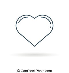 Love heart icon on white background