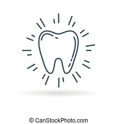 Healthy teeth icon white background