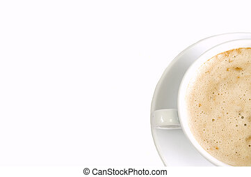 capuccino background right - clean white background with...