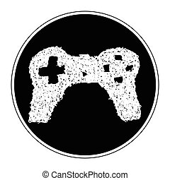 Simple doodle of a game controller - Simple hand drawn...