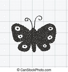Simple doodle of a butterfly