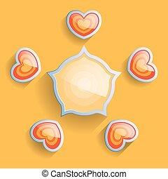 Vector illustration scheme. Valentine's Day.