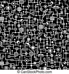 Vector seamless  hi-tech pattern