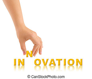 Hand and word Innovation