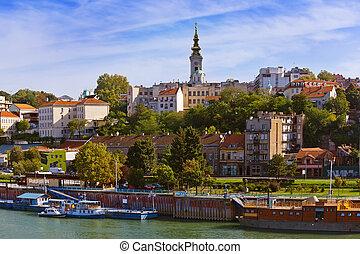 Belgrade Serbia cityscape - architecture travel background