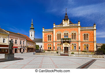 Old town in Novi Sad - Serbia - architecture travel...