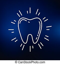 Teeth icon on blue background