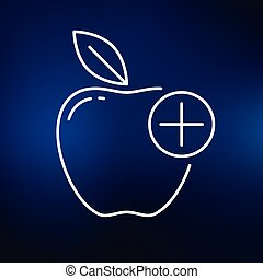 Apple icon on blue background