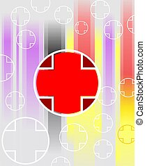 Red cross symbol	 - Illustration of red cross symbol