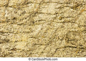 Greenish yellow slate stone - Closeup of Greenish yellow...