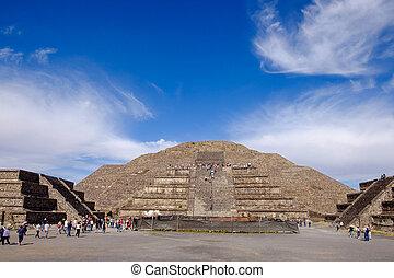 Teotihuacan, México, -, 28, diciembre, 2015:,...
