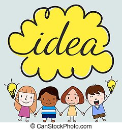Children with idea concept