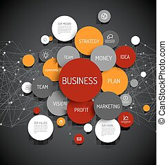 Business infographic diagram