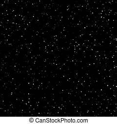 Night Sky with Stars, Starry Night Sky, Snow in the Night...