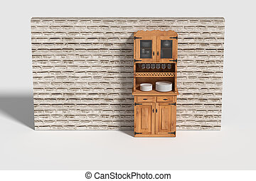 Three-dimensional sideboard - 3d rendering of a...