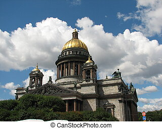 temple - Orthodox cathedral in the city of St-Petersburg...