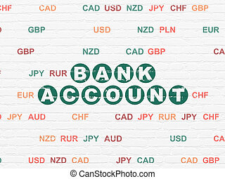 Banking concept: Bank Account on wall background - Banking...