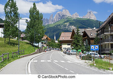 Alba di Canazei, val di Fassa - Summer view of Alba di...