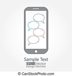 cellphone chat concept. Eps10 vector for your design
