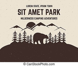 Camping vector brochure and label. The concept of flyer for...