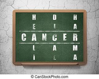 Medicine concept: Cancer in Crossword Puzzle - Medicine...