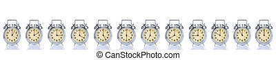 alarm clock with times 12 clock - group of alarm clock with...