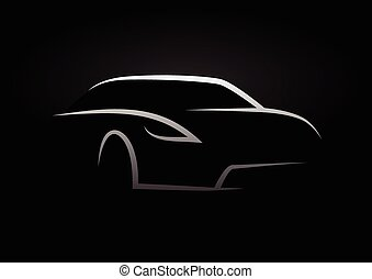 Sports car vehicle silhouette
