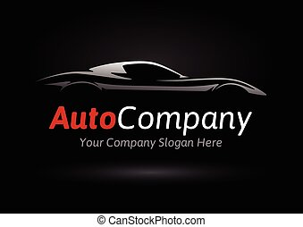 Company sports car silhouette logo