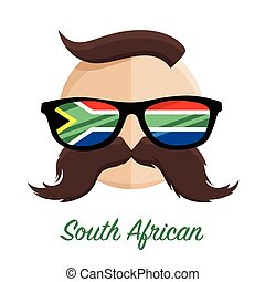 South African hipster glasses flag