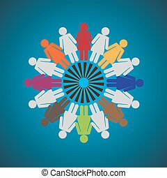 Concept of women empowerment - Vector Illustration of Women...