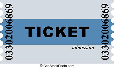 entry ticket - Simple graphic illustration of a blue striped...